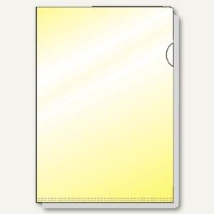 Hetzel Sichthüllen DIN A4, gelb, glänzend, VE 25 Stück, 21780110