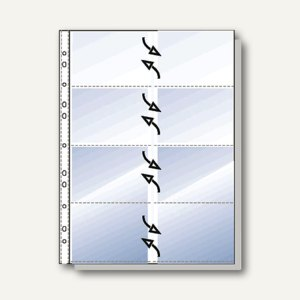 Visitenkartenhüllen DIN A4 für je 16 Karten
