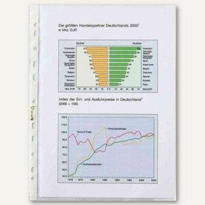 Hetzel Prospekthülle DIN A4, PP glasklar, 110my, oben offen, 10 Stück, 22495190