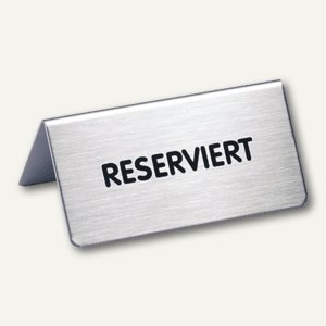Tischaufsteller mit Aufschrift Reserviert