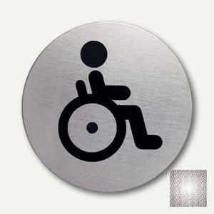 Artikelbild: Edelstahl-Piktogramm Behinderten-WC