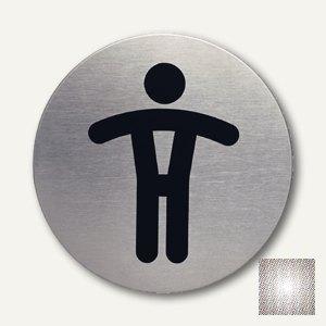 Edelstahl-Piktogramm WC-Herren
