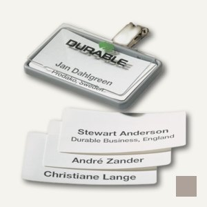 Namensschild Clip-Card mit Clip