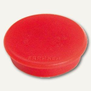 Franken Haftmagnet, rund - Ø 24 mm, Haftkraft 300 g, rot, HM20 01
