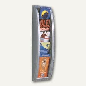 """Wandhalter """"Quick Fit"""", 5 Fächer DIN A4/lang, 65 x 18 x 9,5 cm, aluminium"""