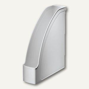 LEITZ Stehsammler Plus, DIN A4 hoch u. quer nutzbar, PS grau, 2476-00-85