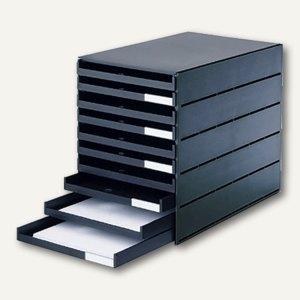 Styro val Schubladenbox, 10 offene Schübe, schwarz, 23102-90