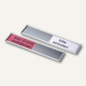 Ultradex Türschild Frei-/Belegt-Anzeiger, 180x36 mm, silber, 314577