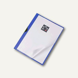 officio Klemmmappe DIN A4, 6 mm für max. 60 Blatt, blau