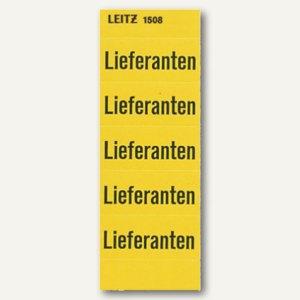 """LEITZ Inhaltsschilder """"Lieferanten"""", selbstklebend, gelb, 100 Stück, 15080000"""