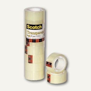 Scotch Klebeband, 19 mm x 10 m, (Ø)ca. 25 mm, transparent, 5501910