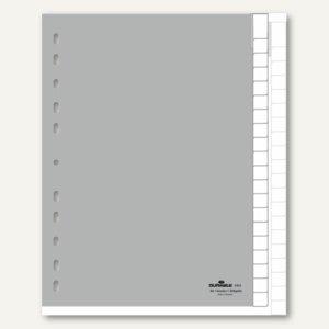 Durable Kunststoffregister DIN A4, 20-teilig, grau, 6443-10