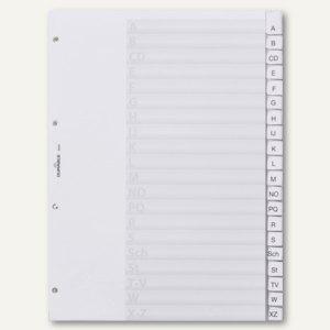 Durable Buchstabenregister, DIN A4, A-Z, 20-tlg, grau, 6401-10