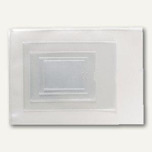 officio Ausweishüllen DIN A6, 120µ, geprägt, klar, 809944