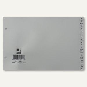 "officio Buchstabenregister ""A-Z"" DIN A5, quer, grau, 810305"