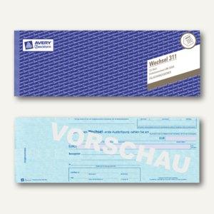 """Zweckform Formularbuch """"Wechsel nach DIN 5004"""", EURO, 297 x 105 mm, 311"""