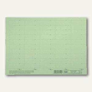 Elba Beschriftungsschilder für Sichtreiter, 58x18mm, grün, 500 Stück, 100420976