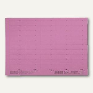 Elba Beschriftungsschilder für Sichtreiter, 58x18mm, rot, 500 Stück, 83582RO