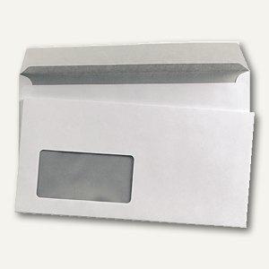 officio Fensterbriefumschlag DL, haftklebend, 80 g/m² weiß, 1000 St., 240552
