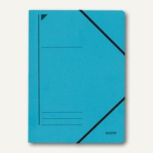 LEITZ Eckspanner DIN A4, ohne Klappen, aus Karton, blau, 39800035