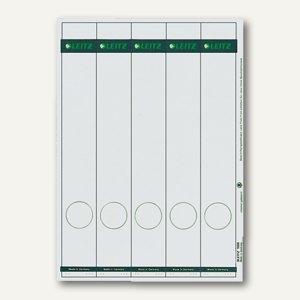 LEITZ Rückenschilder, PC-Beschriftung, schmal/lang, grau, 125 Stück, 1688-00-85