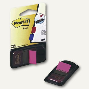 Post-it Index Standard, 25,4 x 43,2 mm, pink, 50 Streifen, I680-21