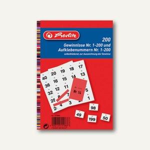 Herlitz Gewinnlose mit Aufklebenummern, rot, 2 x 200 Stück, 791889