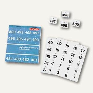 Herlitz Aufklebenummern 1-500, weiß, 791871