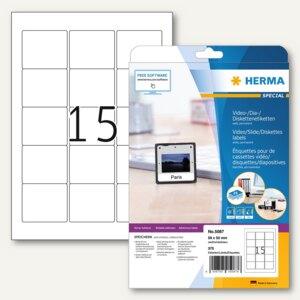 Herma ZIP-Disk-Etiketten, 59x50 mm, Papier matt, weiß, 375 Stück, 5087