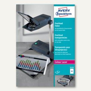 Zweckform OHP-Folie A4, 0.10 mm, Sensorstreifen kurz, Farblaser, 50 St., 3559