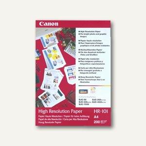 """Canon InkJet Foto Papier """"HR101"""", DIN A4, 50 Blatt, 1033A002"""