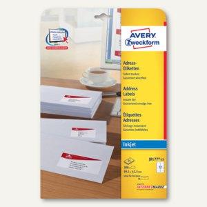 Zweckform Adress-Etiketten für DIN lang, Inkjet, 99.1 x 42.3 mm, 300St.,J8177-25