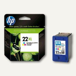 HP Tintenpatrone Nr.22XL, dreifarbig cyan/magenta/gelb, C9352CE
