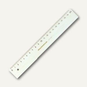 Rumold Top-Lineal, mit Tuschekante, 100 cm, Plexiglas transparent, FL 47/100