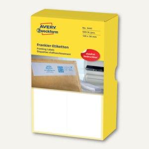 Zweckform Frankier-Etiketten - doppelt, 128 x 38 mm, 500 Stück, 3441