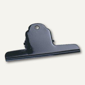 Alco Briefklemmer, 75mm, schwarz, Metall, 10 Stück, 770S11