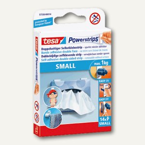 Tesa Powerstrips SMALL, 14er Pack, 57550-00014