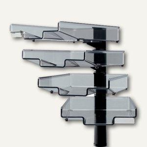Hansa Schwenkflügler mit 4 Schalen, DIN A4, schwarz, 5034 004