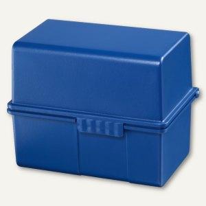 HAN Karteibox DIN A8, bis 200 Karten, inkl. 100 Karten & Register, blau, 978-14