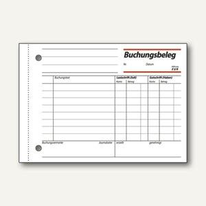 Sigel Formular Buchungsbeleg, DIN A6, quer, 50 Blatt, BU615