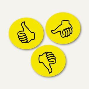 Moderationskarten Wertungssymbole Daumen