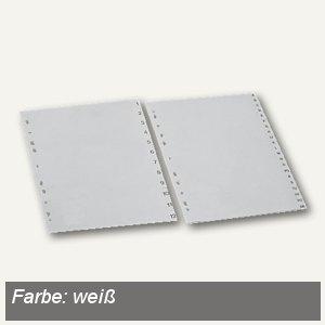 Hetzel Kunststoff-Register, Zahlen 1-12, DIN A4+, PP, weiß, 8201102