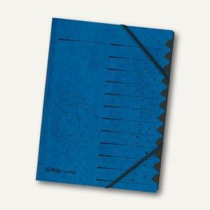 Falken Ordnungsmappe easyorga 12 Fächer, blau, 10843316