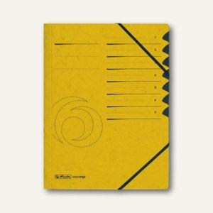 Herlitz Ordnungsmappe easyorga 7 Fächer, gelb, 10843266