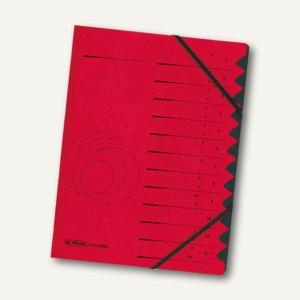 Herlitz Ordnungsmappe easyorga 12 Fächer, rot, 10843324