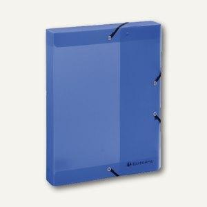 Exacompta Dokumentenbox Linicolor, Rücken 40 mm, Eckspanner, blau, 59772E