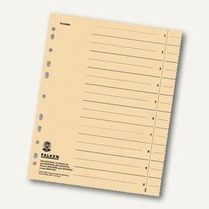 Falken Trennblätter DIN A4, durchgefärbt beige, 250 g/m², 100 Stück, 80001688