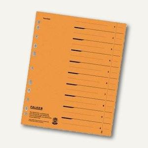 Falken Trennblätter DIN A4, durchgefärbt orange, 250 g/m², 100 Stück, 80001704