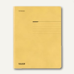 Falken Einschlagmappe DIN A4, gelb, 80001381