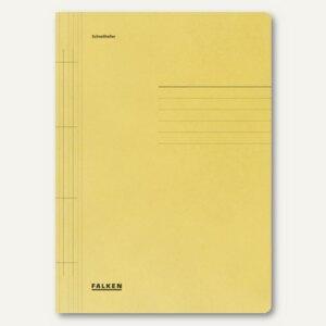 Falken Schnellhefter DIN A4, Karton, gelb, 80000425
